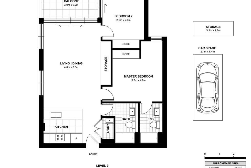 Floorplan of Homely apartment listing, 722/2B Defries Avenue, Zetland NSW 2017