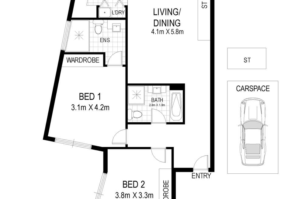 Floorplan of Homely apartment listing, 901/172 South Parade, Auburn NSW 2144