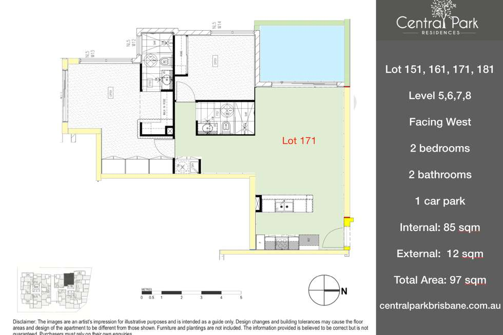 Floorplan of Homely apartment listing, 111/181 Clarence Rd, Indooroopilly QLD 4068