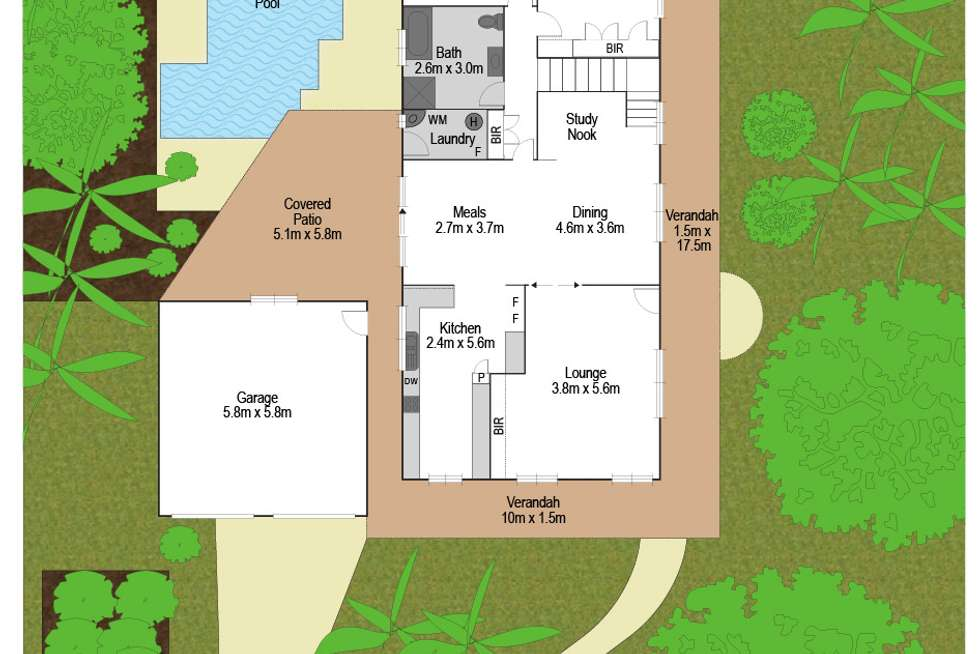 Floorplan of Homely house listing, 2 Yamble Drive, Ocean Shores NSW 2483