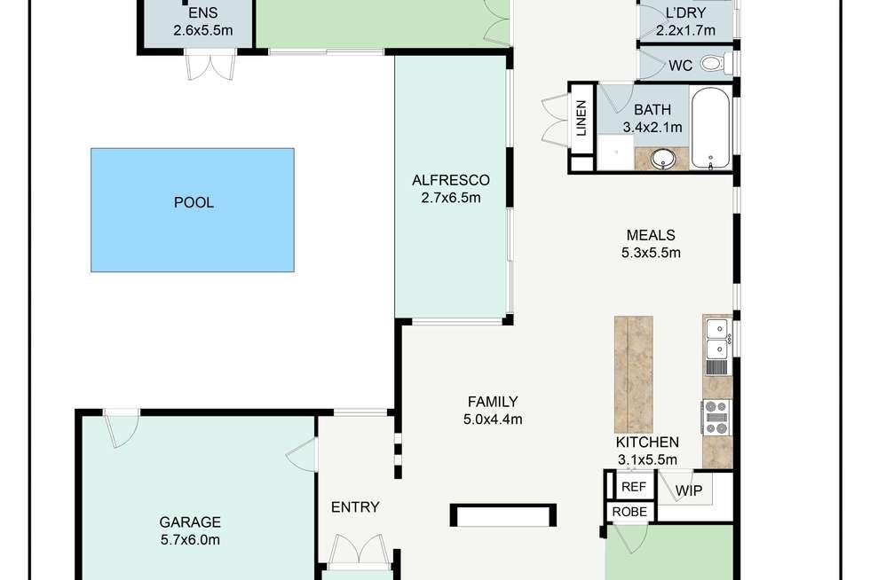 Floorplan of Homely house listing, 6 CONDAMINE STREET, Wodonga VIC 3690