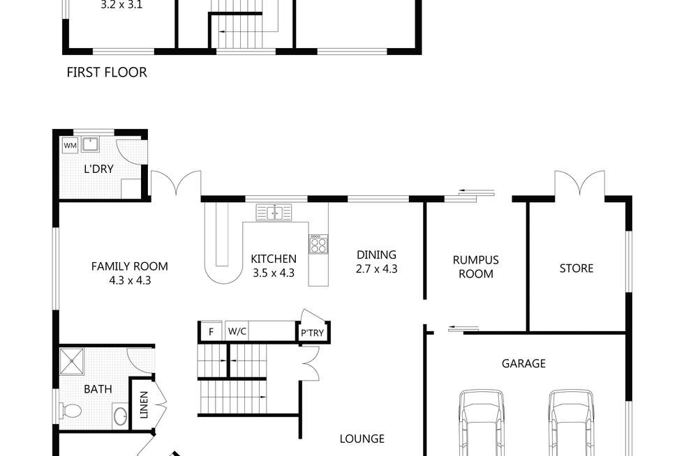 Floorplan of Homely house listing, 22 Jonquil Crescent, Annandale QLD 4814