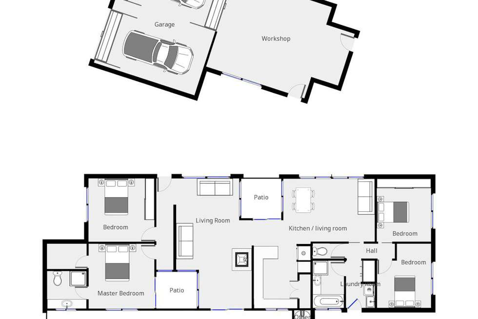Floorplan of Homely house listing, 43 Mansell Drive, Mildura VIC 3500
