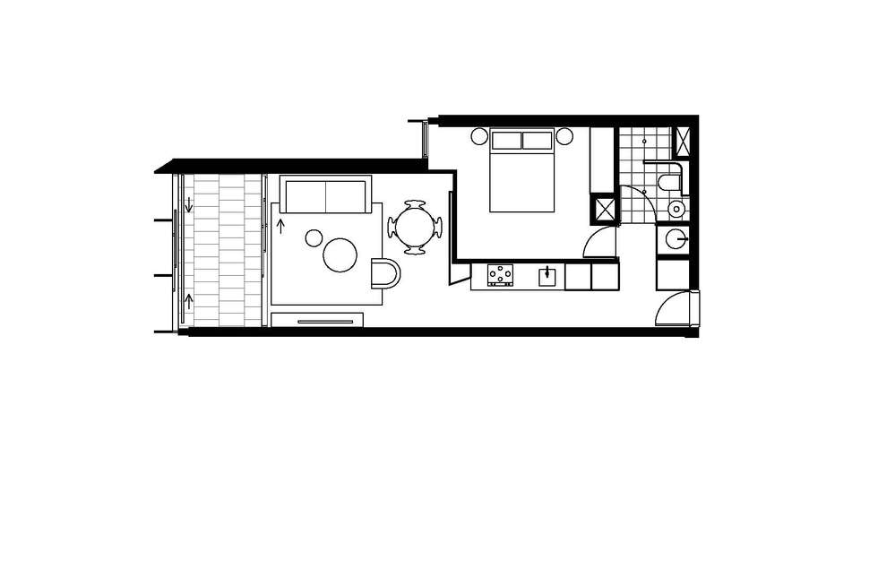 Floorplan of Homely apartment listing, 703/8 Central Park Avenue, Chippendale NSW 2008
