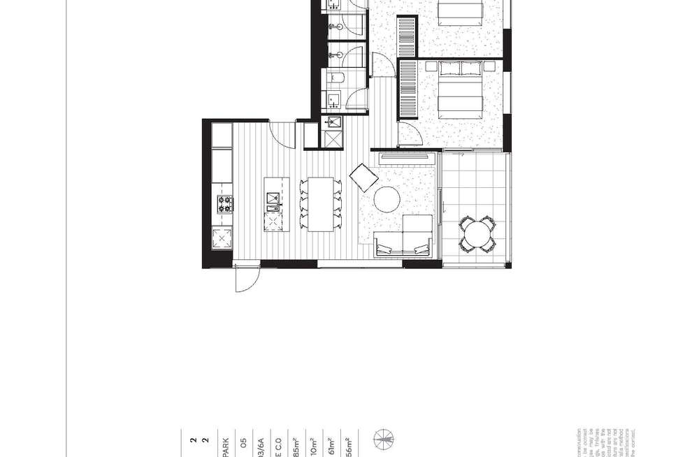 Floorplan of Homely apartment listing, 403/6 Evergreen Mews, Armadale VIC 3143