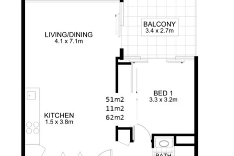 Floorplan of Homely apartment listing, 1112/55 Railway Terrace, Milton QLD 4064