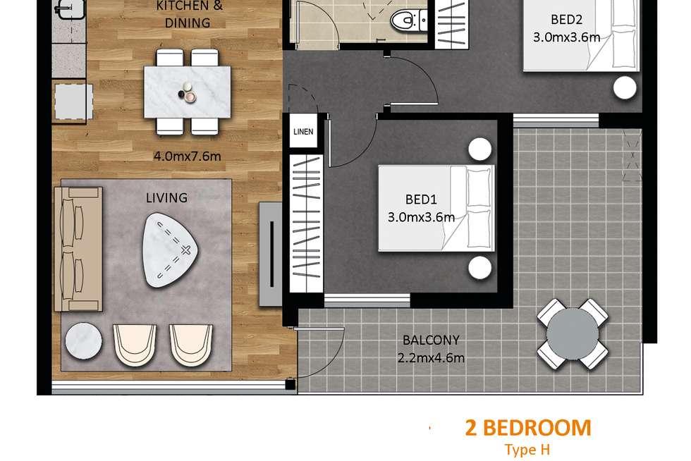 Floorplan of Homely apartment listing, 608/297 Pirie Street, Adelaide SA 5000