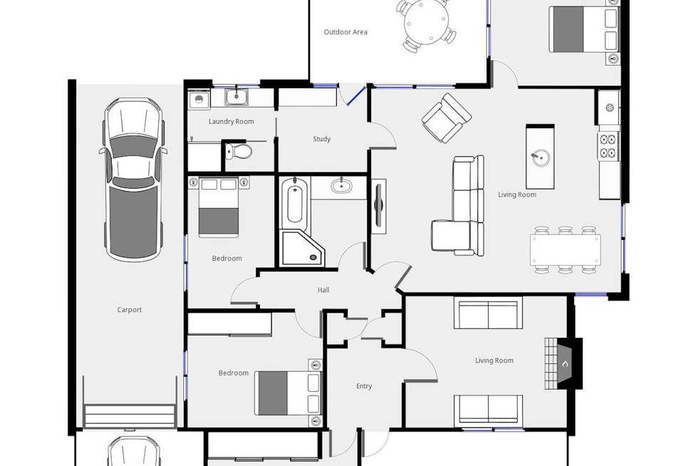 Floorplan of Homely house listing, 279 Eleventh Street, Mildura VIC 3500