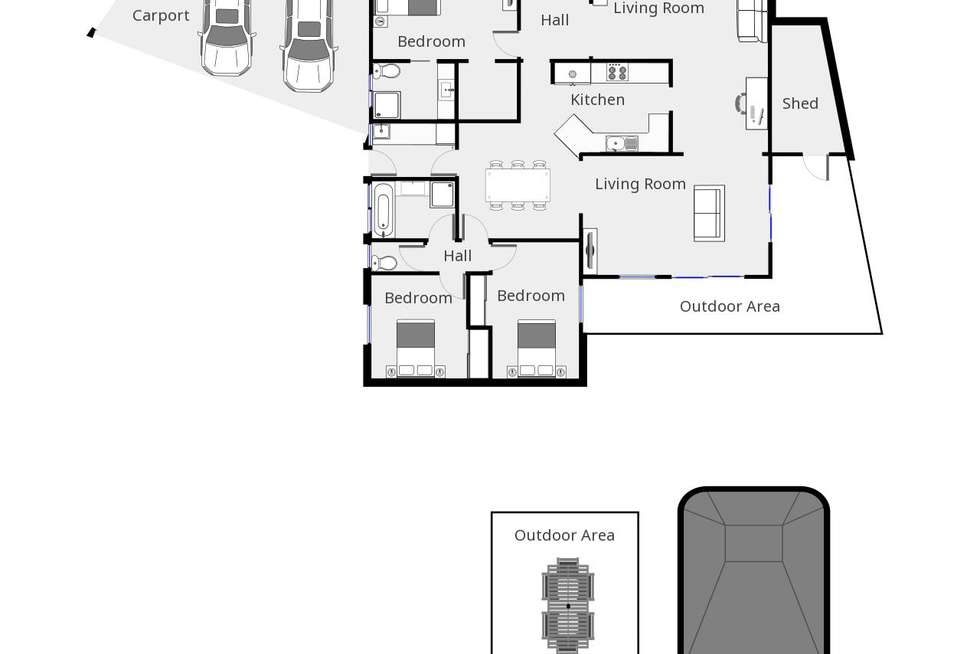 Floorplan of Homely house listing, 4 MERINDA COURT, Mildura VIC 3500