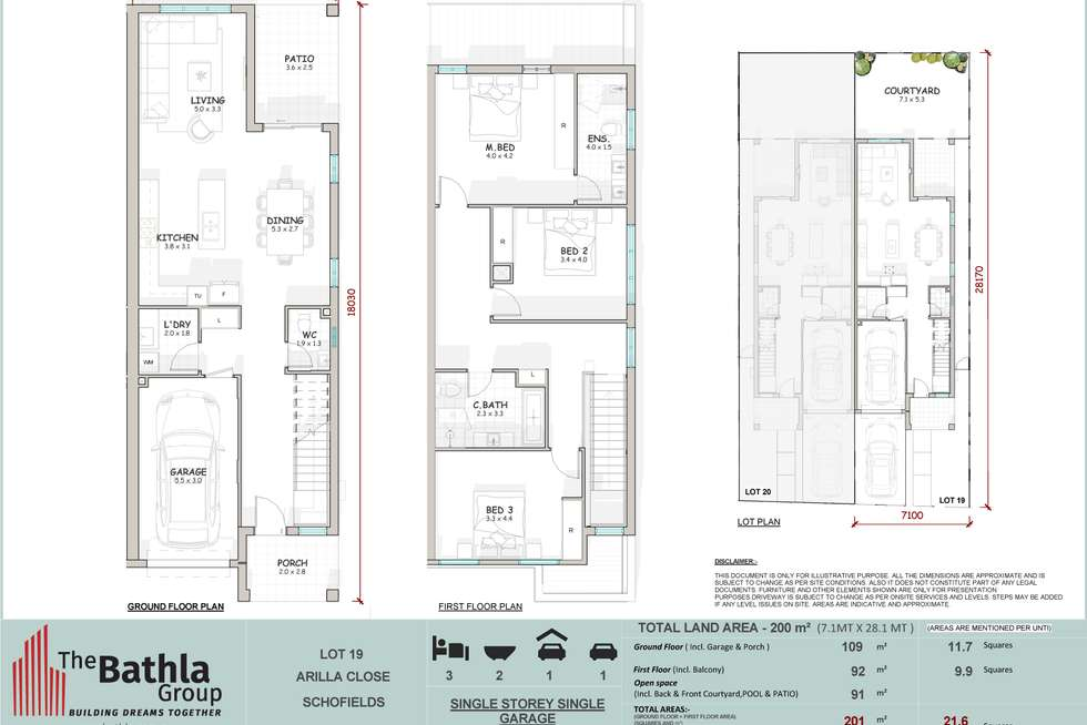 Floorplan of Homely semiDetached listing, 38 Arilla Close, Schofields NSW 2762