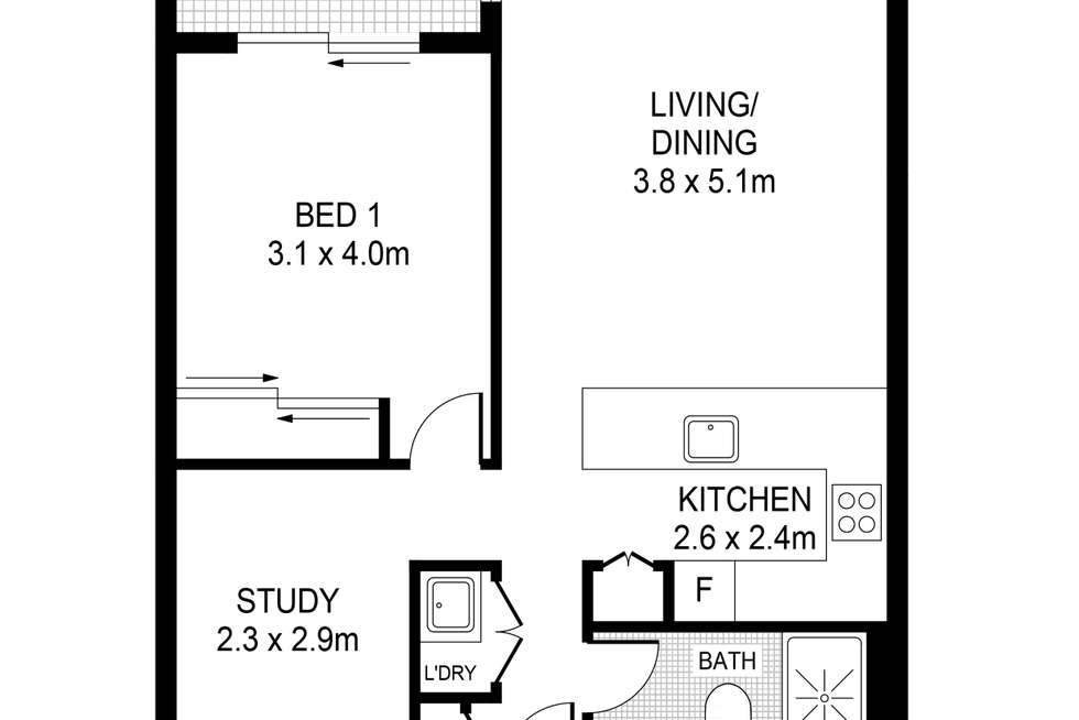 Floorplan of Homely apartment listing, 212/354 Church Street, Parramatta NSW 2150
