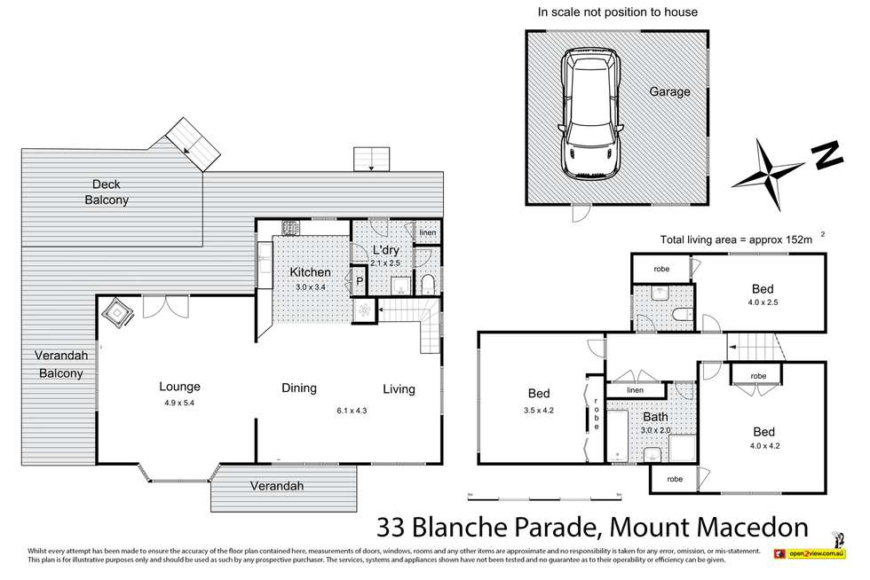 Floorplan of Homely house listing, 33 Blanche Parade, Mount Macedon VIC 3441