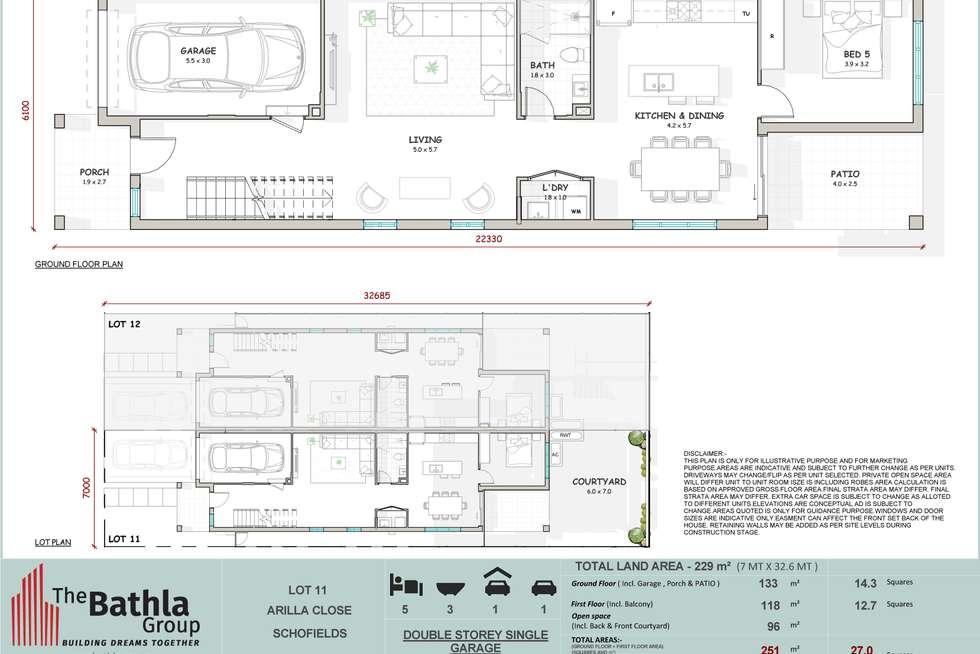 Floorplan of Homely semiDetached listing, 22 Arilla Close, Schofields NSW 2762
