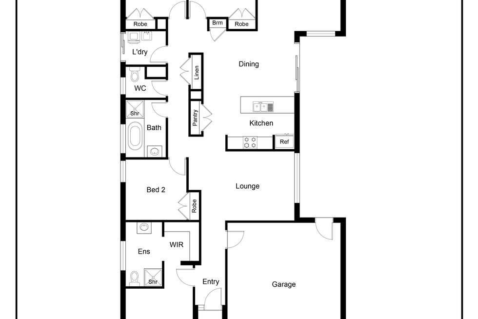 Floorplan of Homely house listing, 19 BUGDEN STREET, Wodonga VIC 3690