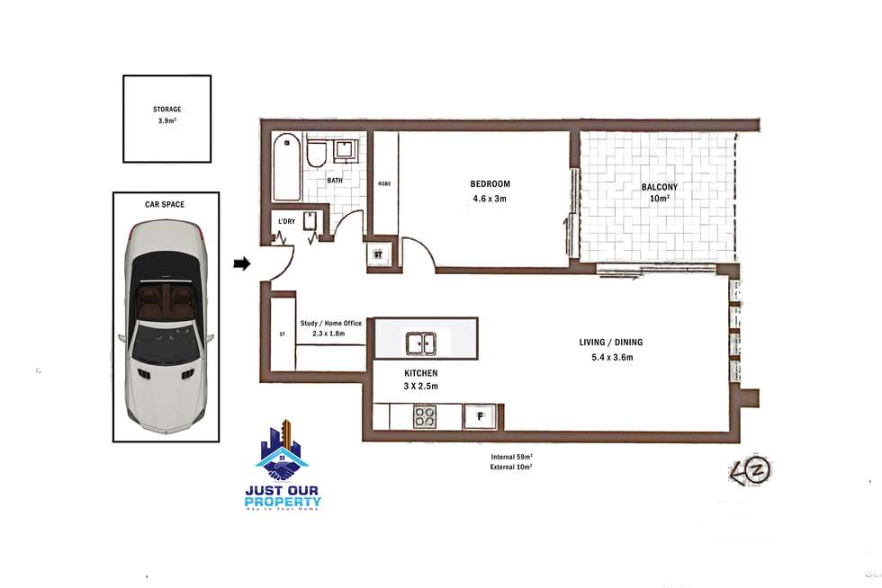 Floorplan of Homely apartment listing, 218/365-367 Rocky Point Rd, Sans Souci NSW 2219