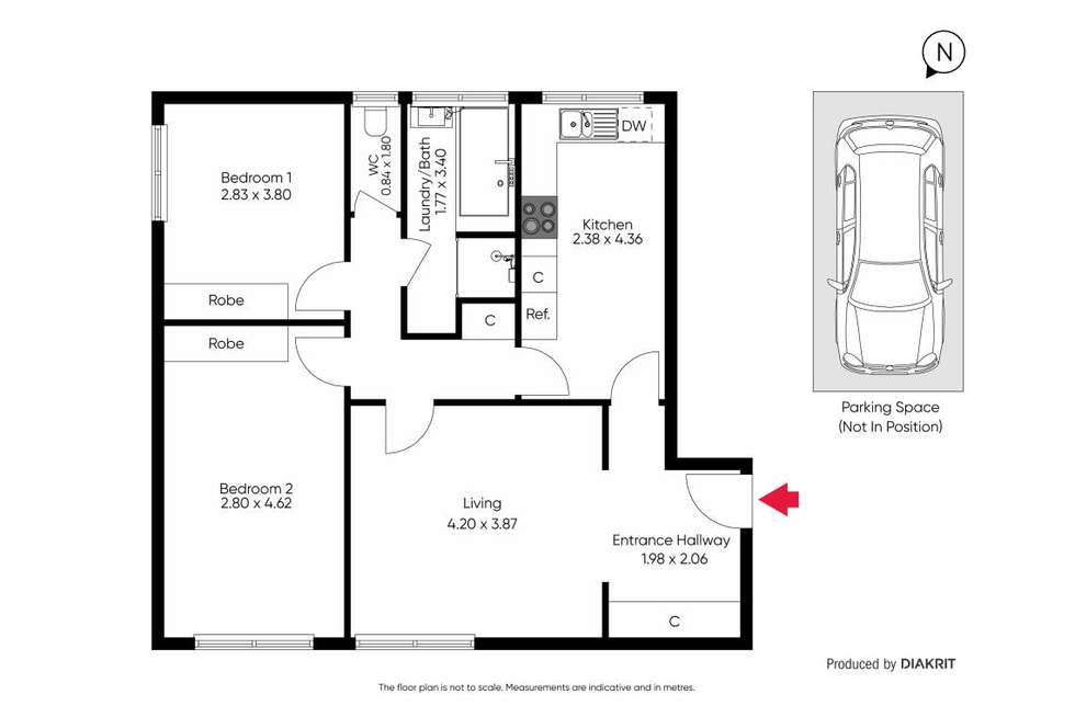 Floorplan of Homely apartment listing, 9/1512 Malvern Road, Glen Iris VIC 3146