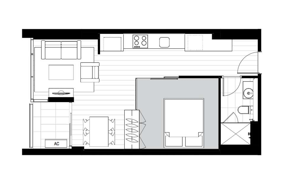 Floorplan of Homely apartment listing, 3606/33 Rose Lane, Melbourne VIC 3000
