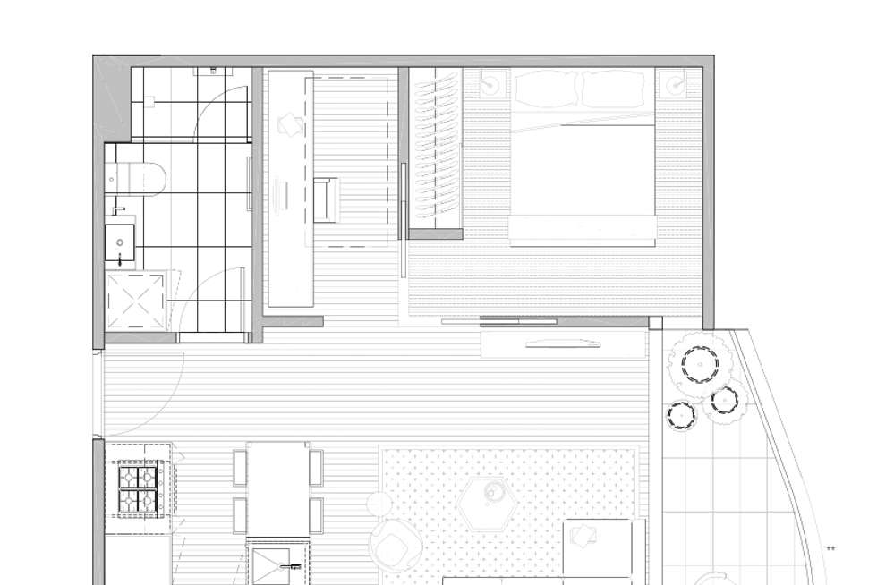 Floorplan of Homely apartment listing, 201/150 Dudley Street, West Melbourne VIC 3003