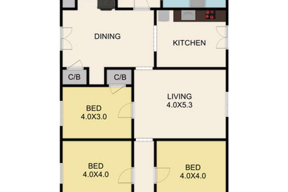 Floorplan of Homely house listing, 11 Melbourne Road, Yea VIC 3717