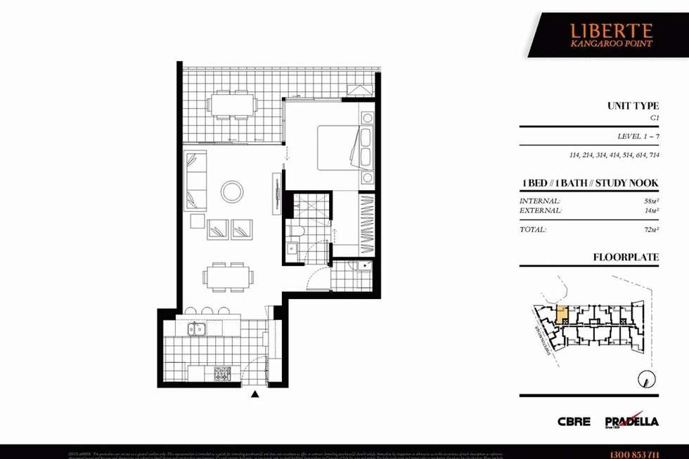 Floorplan of Homely apartment listing, 214/50 Connor Street, Kangaroo Point QLD 4169