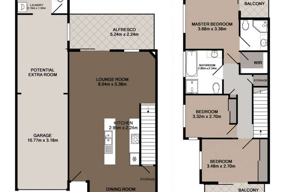 Floorplan of Homely townhouse listing, 18/276 Pine Mountain Road, Carina Heights QLD 4152