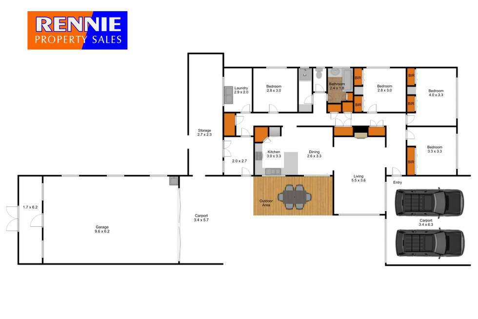 Floorplan of Homely house listing, 22 Booth Street, Morwell VIC 3840