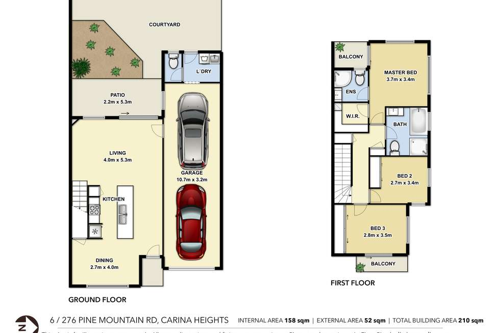 Floorplan of Homely townhouse listing, 6/276 Pine Mountain Road, Carina Heights QLD 4152