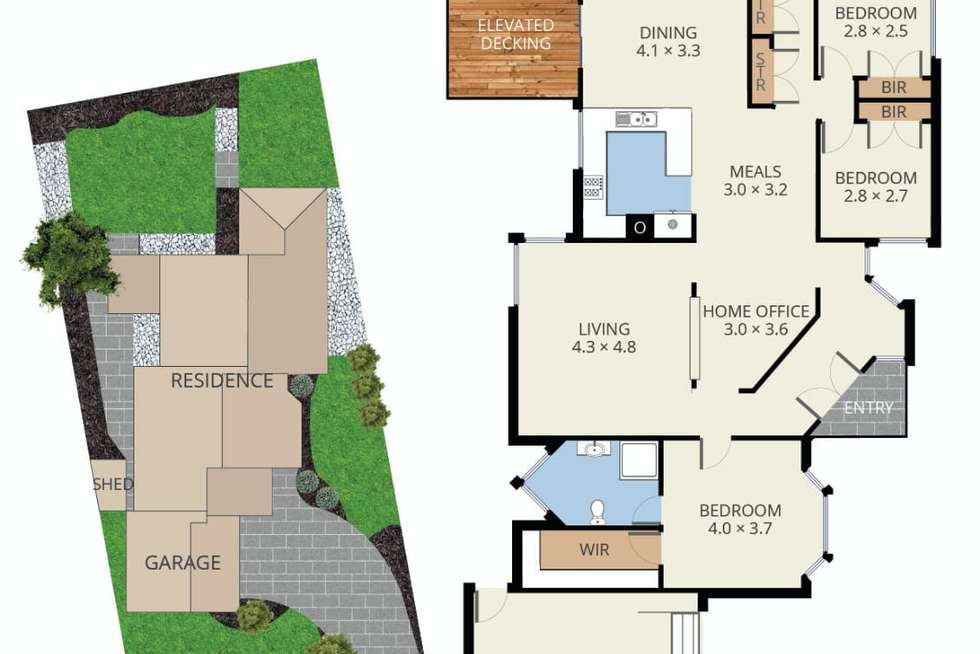 Floorplan of Homely house listing, 61 Taylors Lane, Rowville VIC 3178