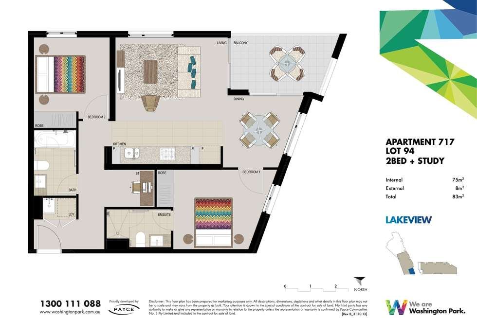 Floorplan of Homely apartment listing, Unit 717/5 Vermont Crescent, Riverwood NSW 2210