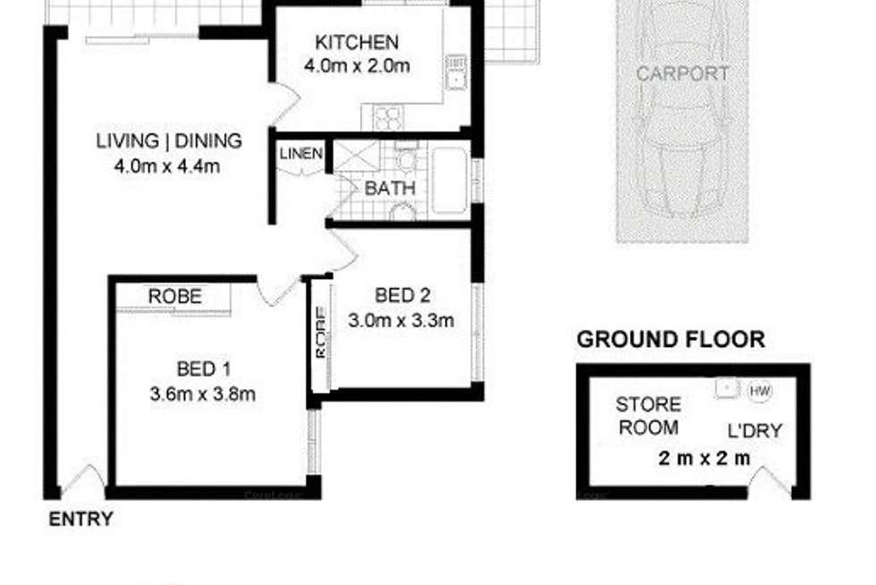 Floorplan of Homely unit listing, 4/42 Elizabeth Street, Ashfield NSW 2131