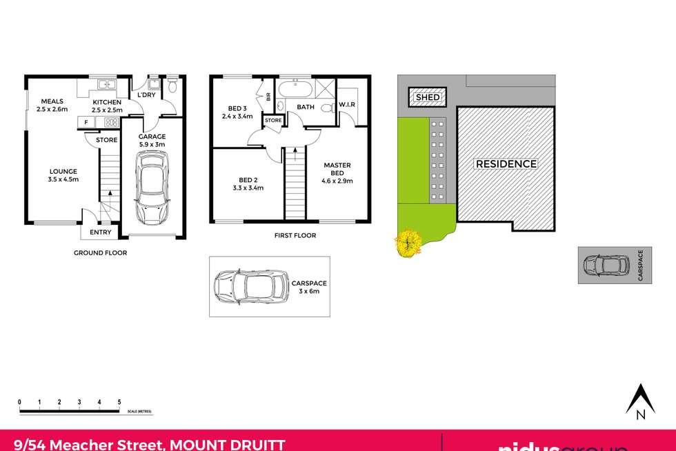 Floorplan of Homely townhouse listing, 9/54 Meacher Street, Mount Druitt NSW 2770