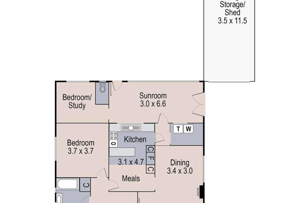 Floorplan of Homely house listing, 119 Hertford Road, Sunshine VIC 3020