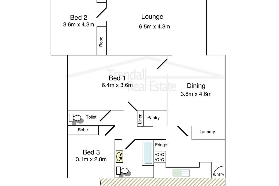 Floorplan of Homely house listing, 10 Bruce Street, Woolloongabba QLD 4102