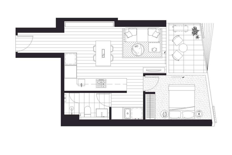 Floorplan of Homely apartment listing, 1206/15 Austin Street, Adelaide SA 5000