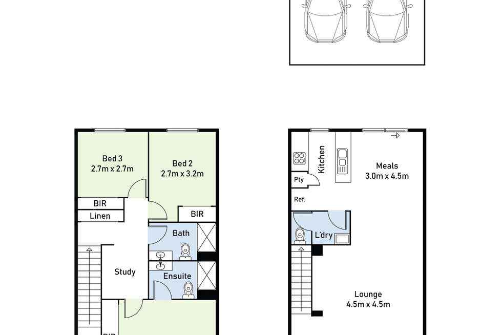 Floorplan of Homely townhouse listing, 44 Kosa Avenue, Sunshine West VIC 3020
