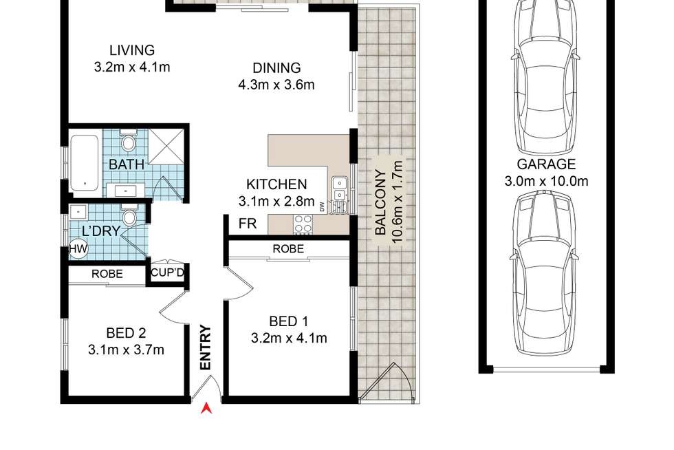 Floorplan of Homely apartment listing, 2/81 First Avenue, Campsie NSW 2194