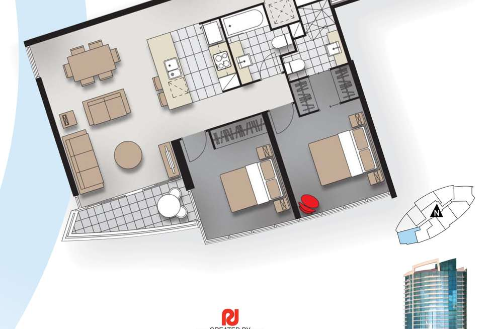 Floorplan of Homely apartment listing, 21506/5 Lawson street, Southport QLD 4215