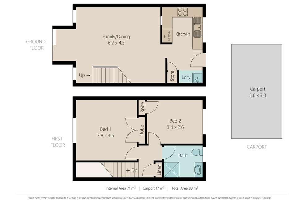 Floorplan of Homely townhouse listing, 19/39 Garfield Road, Woodridge QLD 4114