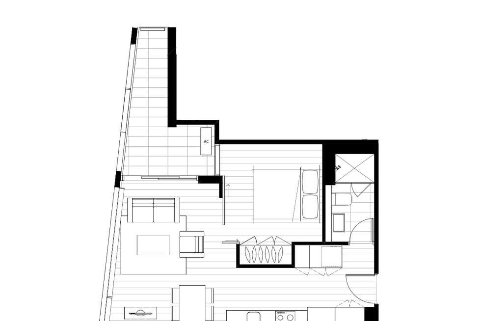 Floorplan of Homely apartment listing, 1109/38 Rose Lane, Melbourne VIC 3000