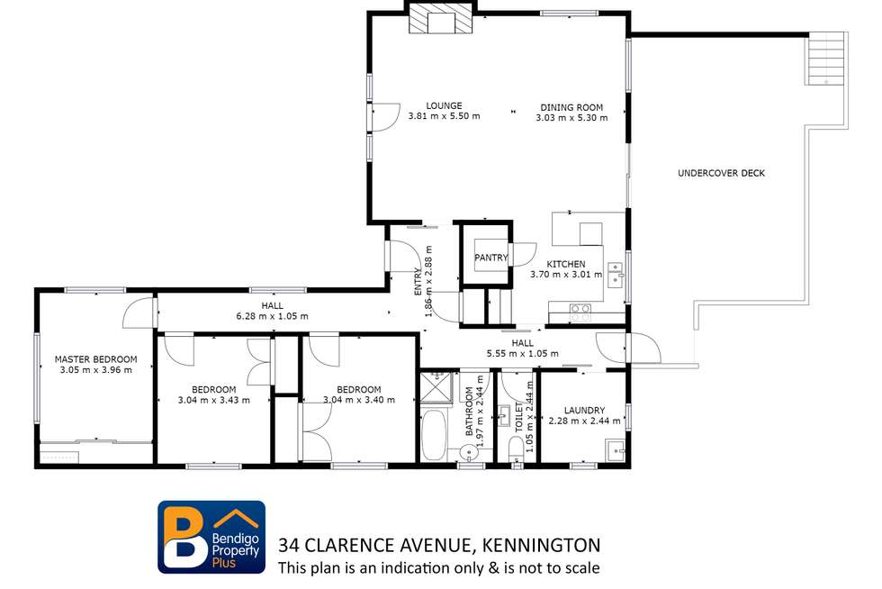 Floorplan of Homely house listing, 34 Clarence Avenue, Kennington VIC 3550