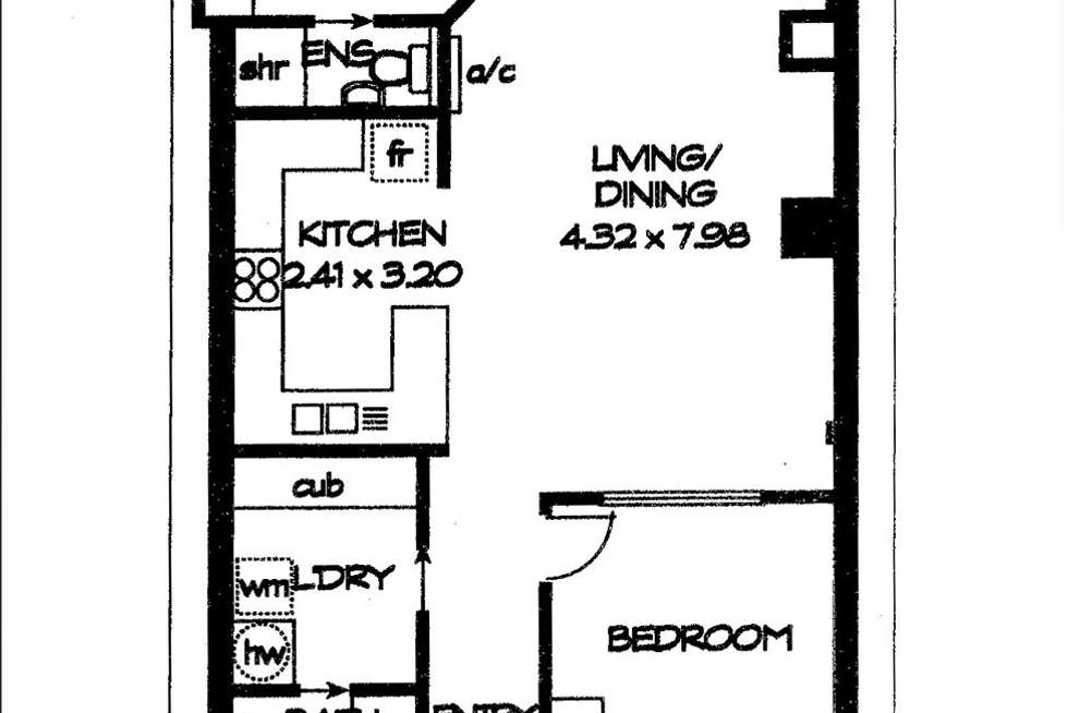 Floorplan of Homely apartment listing, 33/65 King William Street, Adelaide SA 5000