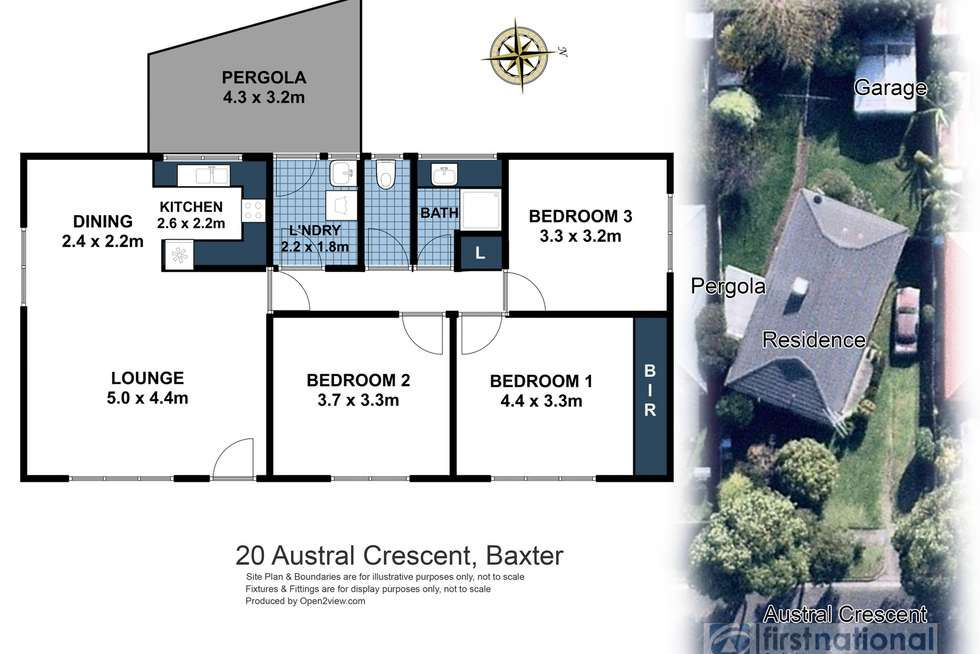 Floorplan of Homely house listing, 20 Austral Crescent, Baxter VIC 3911