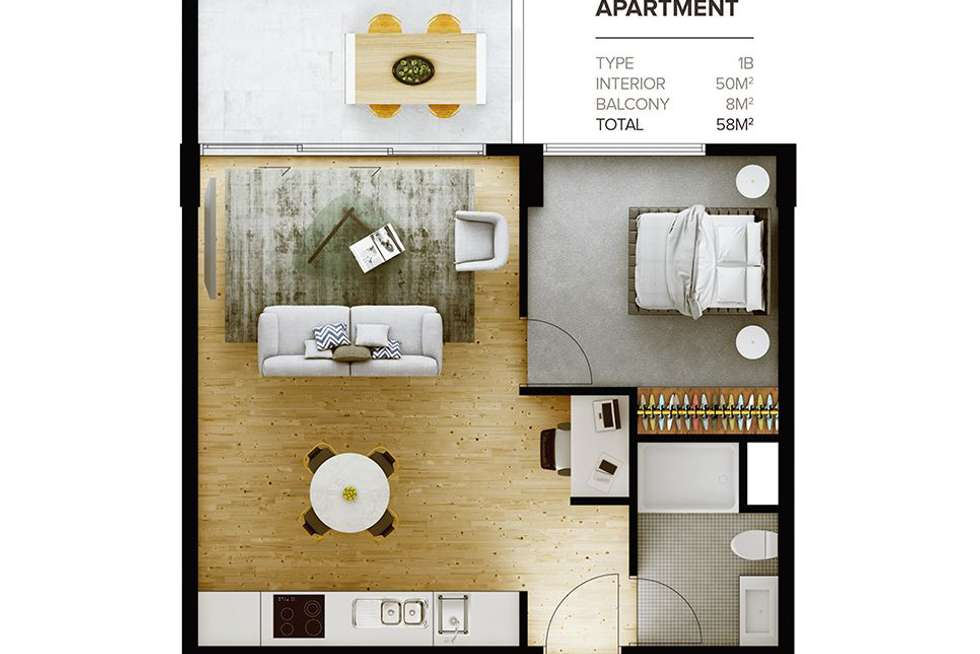 Floorplan of Homely apartment listing, 1008/156 Wright Street, Adelaide SA 5000