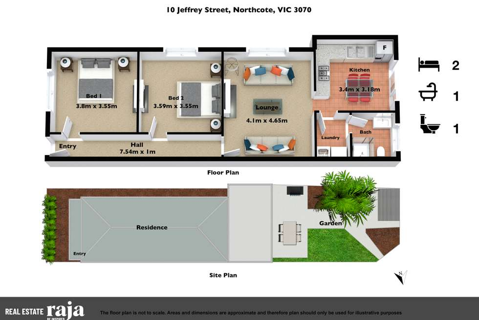 Floorplan of Homely house listing, 10 Jeffrey Street, Northcote VIC 3070