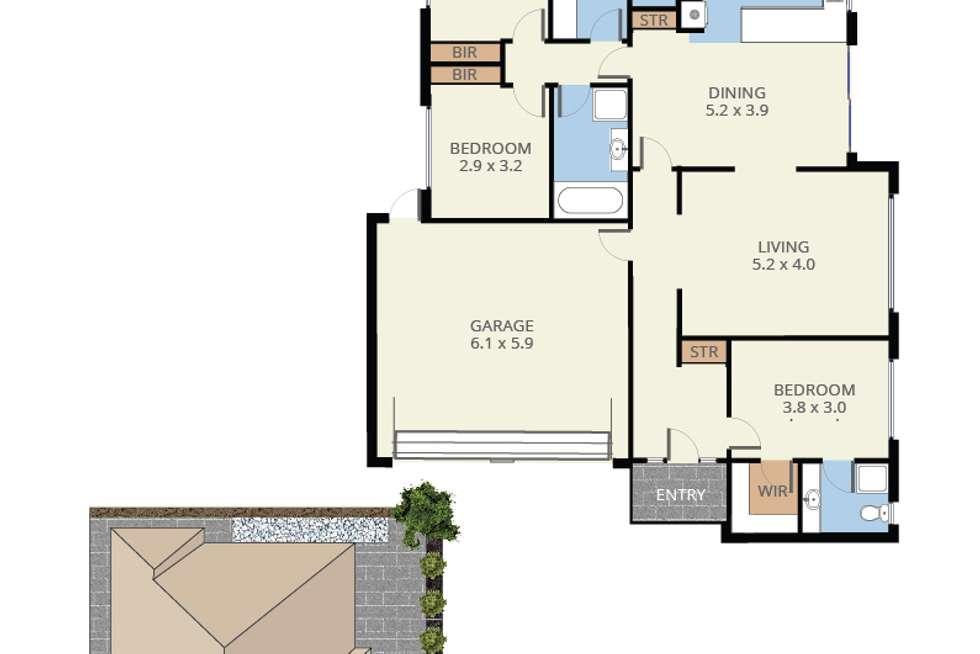 Floorplan of Homely unit listing, 2/92 Springvale Road, Nunawading VIC 3131