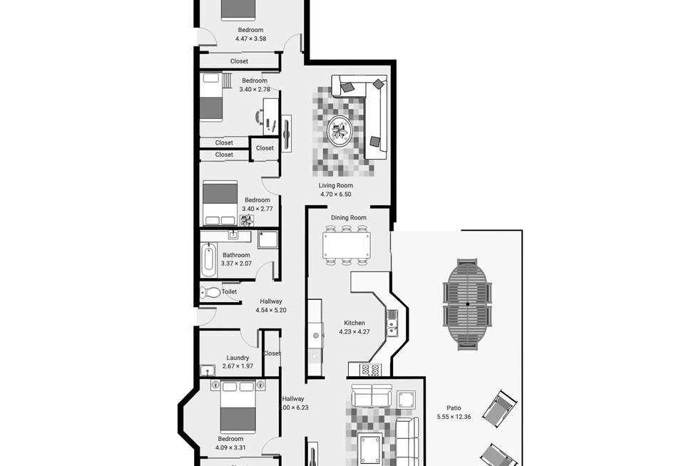 Floorplan of Homely house listing, 72 PATERSON ROAD, Shepparton VIC 3630
