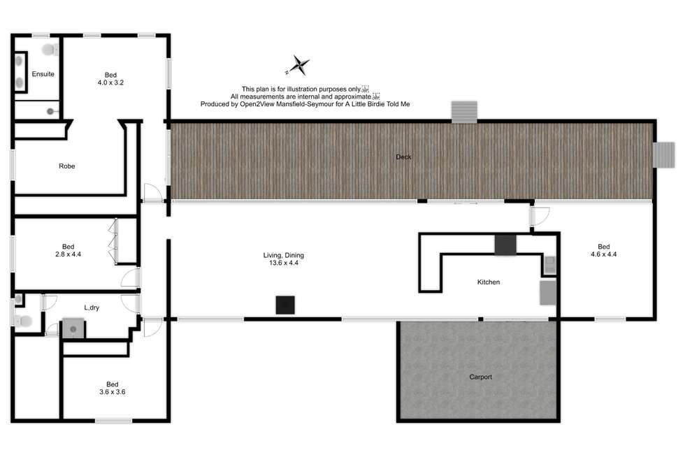 Floorplan of Homely lifestyle listing, 155 TALLAROOK-PYALONG ROAD, Tallarook VIC 3659