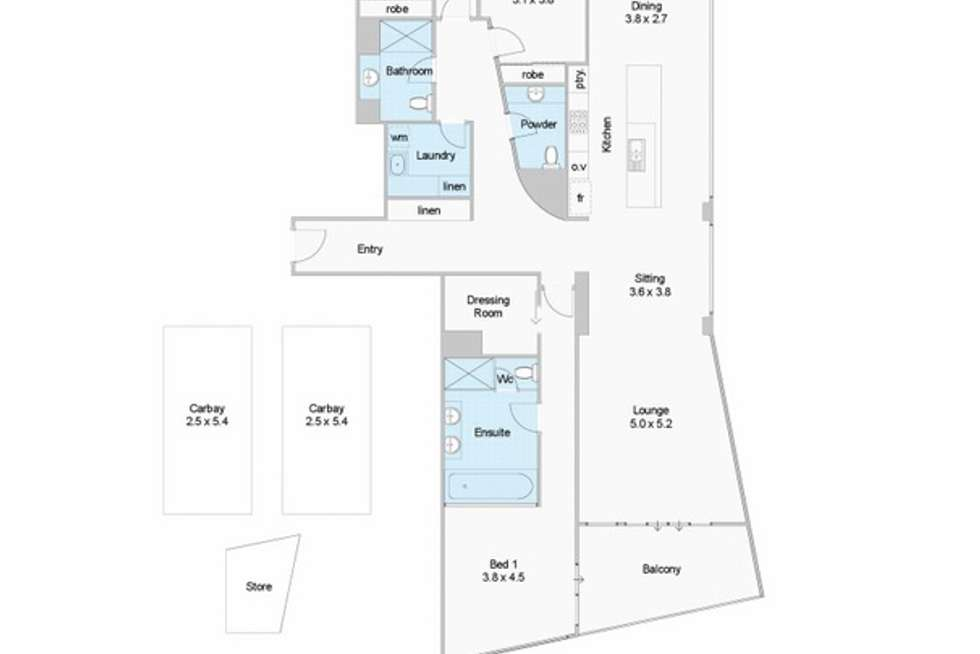 Floorplan of Homely apartment listing, 608/96 Bow River, Burswood WA 6100