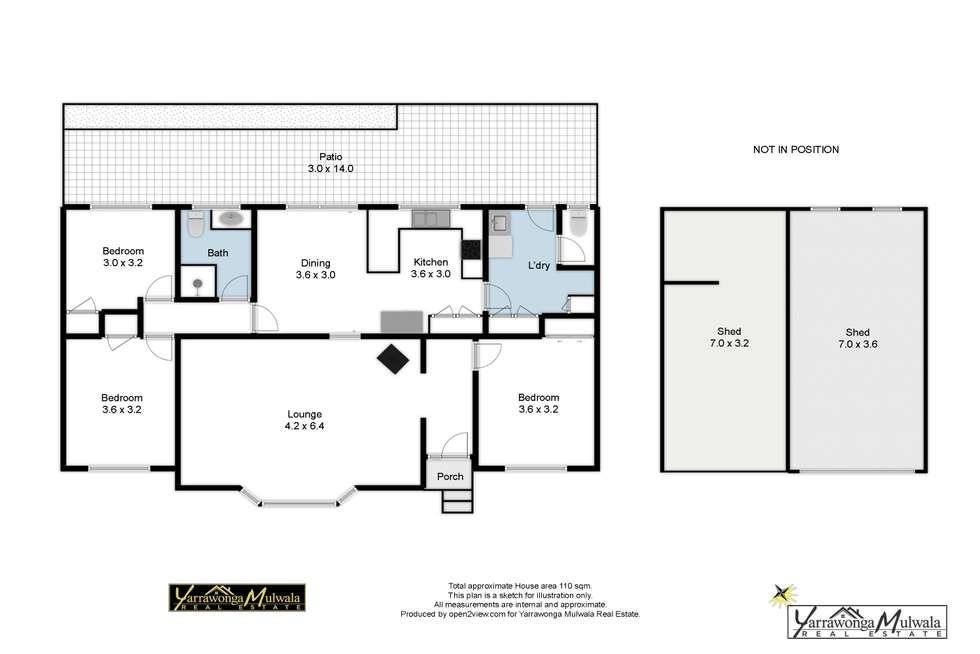 Floorplan of Homely house listing, 75 Stevenson Court, Yarrawonga VIC 3730