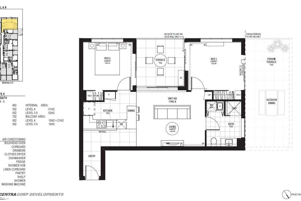 Floorplan of Homely apartment listing, 402/14 Merivale Street, South Brisbane QLD 4101